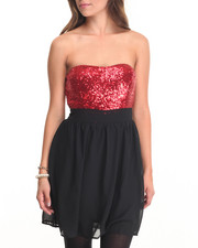 Women - Dancein' Tube Top Sequin Detail Dress