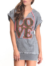 Women - Love Tunic w/ Hood