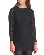 Dresses - Lace Long Sleeve Dress
