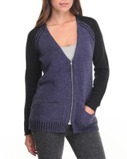 Women - Cardigan w/ Zipper