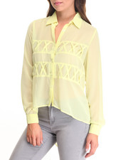 Women - X Marks The Spot Chiffon Top
