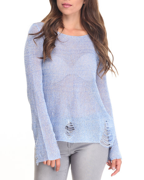 Fashion Lab - Women Blue Lightweight Sweater