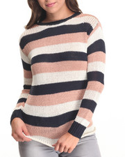 Women - Striped Sweater