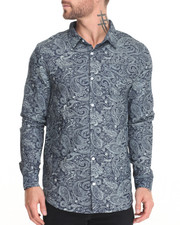 Men - Paisley Chambray L/S Button-Down
