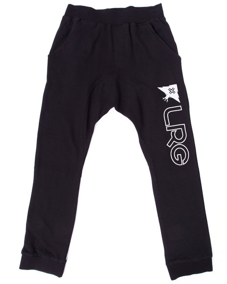 Lrg - Boys Black Research Collection Joggers (8-20)