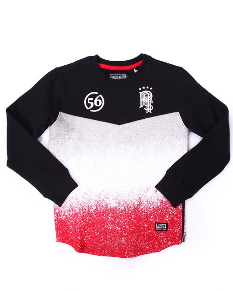 Parish - Boys Black Spray Nation Crew Sweatshirt (4-7)
