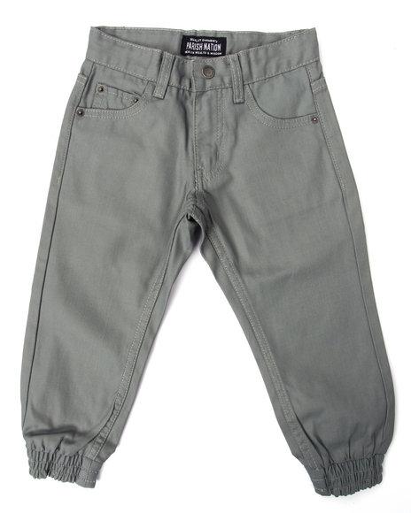 Parish - Boys Grey Coated Denim Joggers (4-7)
