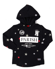 Sizes 2T-4T - Toddler - HOODED L/S STAR PRINT TEE (2T-4T)