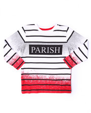 T-Shirts - SPRAY NATION STRIPE L/S TEE (4-7)