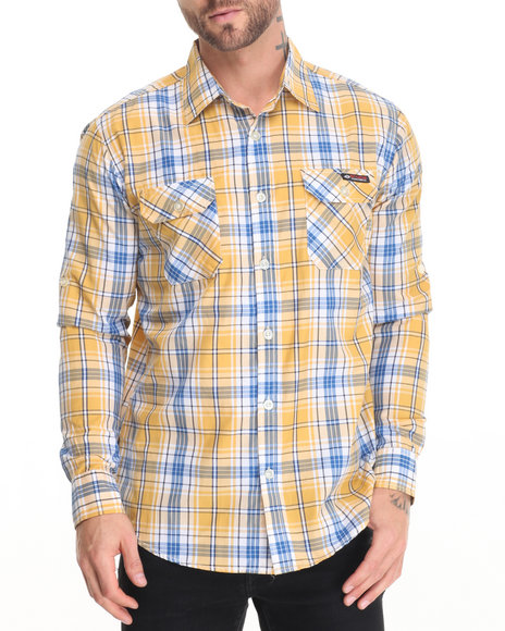 Enyce Yellow Button-Downs