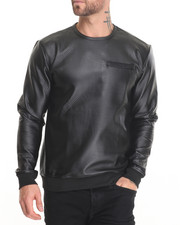 Men - Diamond Quilted Crewneck Sweatshirt