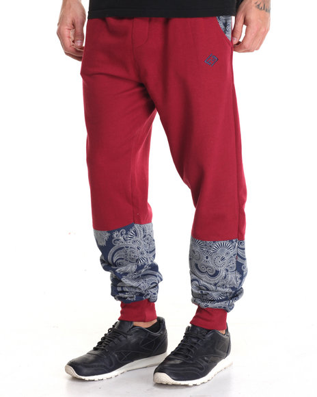 Enyce - Men Red Tom Hansen Joggers - $19.99