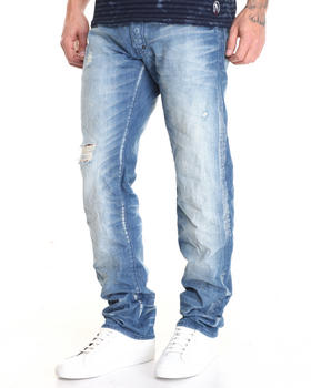 -FEATURES- - Barracuda Worn Look  Jean