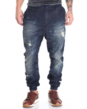 -FEATURES- - Distressed Jean Jogger