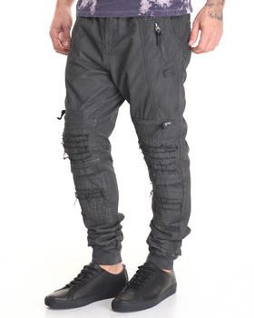 -FEATURES- - Coated Resin Moto Jogger