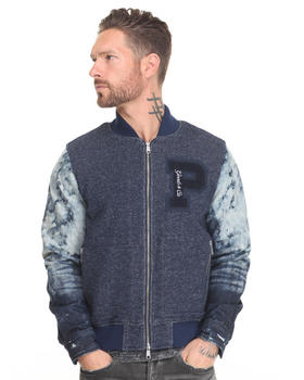 PRPS - Fleece Denim Varsity Jacket
