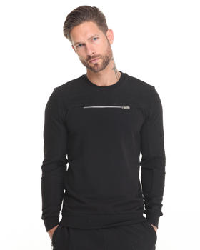 Men - Mesh Panel Sweatshirt
