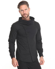 Jackets & Coats - Cowlneck Nylon asymetrical Jacket