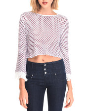 Women - Crop Top Duster Sweater