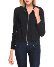 Women - Rolled Up Sleeves Lightweight Jacket