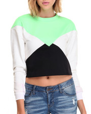 Women - Crop Top Block Sweater
