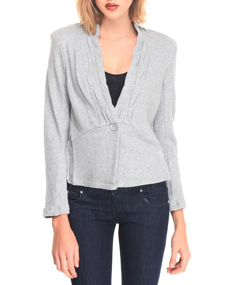 Basic Essentials Women Fleece Jacket Grey Medium