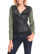 Fashion Lab - Dorian Vegan Leather Jacket