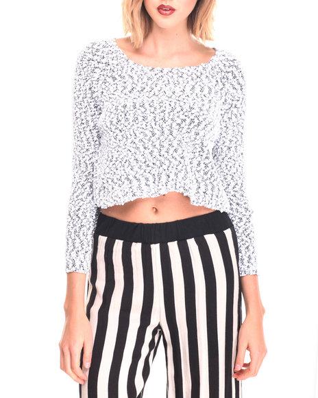 Fashion Lab - Women White Oversized Crop Sweater - $6.99