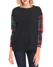 Women - Oversized Plaid Pullover