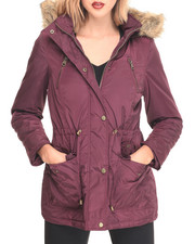 "Women - Nylon 30"" Parka w/ Fur Trim Hood"