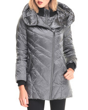 Steve Madden - Black Hooded Down Puffer Coat