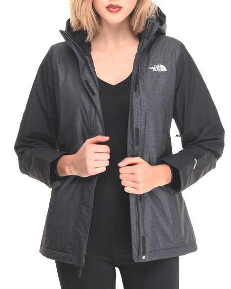 The North Face - Women Charcoal,Black Inlux Waterproof Insulated Jacket