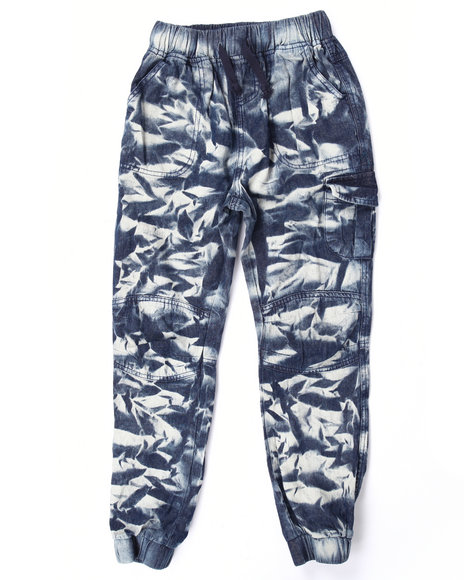 La Galleria - Girls Medium Wash Tie Dye Wash Joggers (7-16)