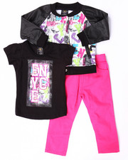 Sets - 3 PC GRAFFITI VARSITY JACKET SET (2T-4T)