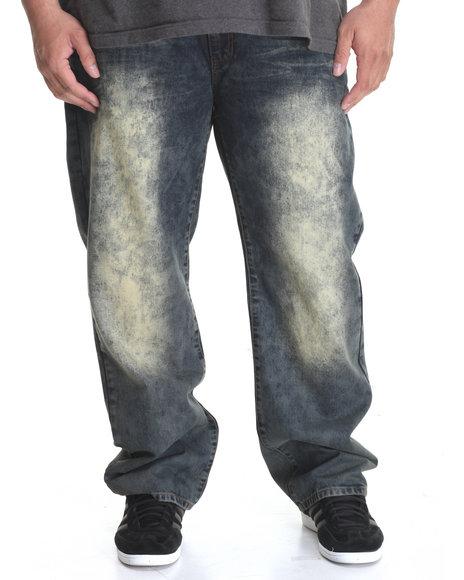 Winchester - Men Dark Wash Light Bleached Denim Jeans (B&T)