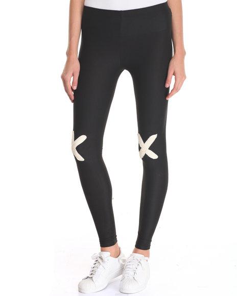 Fashion Lab - Women Black X Spot Legging