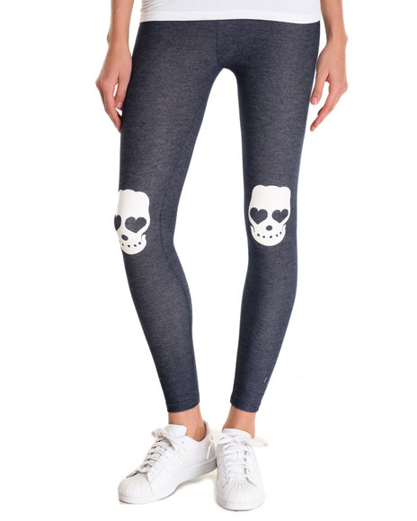 Fashion Lab - Women Blue Skull Legging