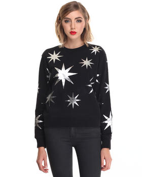 -FEATURES- - STAR PRINT SWEATSHIRT