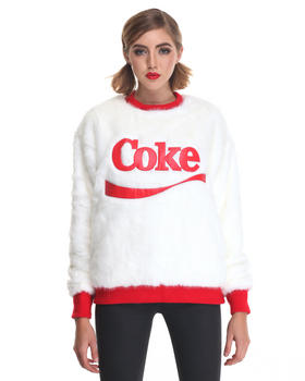 Women - Coke Candy Faux Fur Pullover