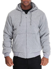 Buyers Picks - Heavyweight Quilted Thermal - Lined Fleece Hoodie