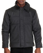 Buyers Picks - Quest Sherpa - Collared Faux Leather - Trimmed Wool Jacket