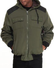 Men - Brainchild Nylon - Paneled Fleece Jacket