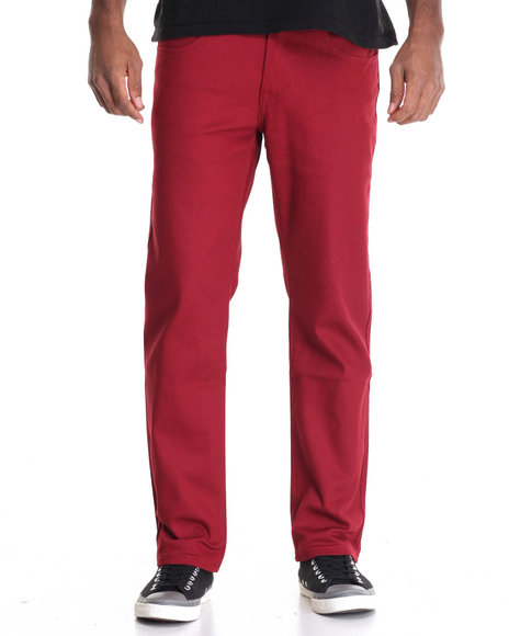 Akademiks - Men Red Shady Stretch Twill Pants