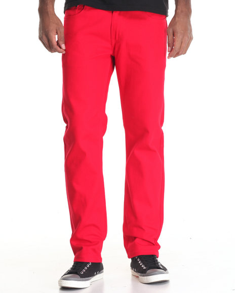 Akademiks - Men Red Culture Twill Pant