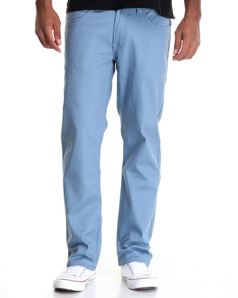Akademiks - Men Blue Shady Stretch Twill Pants