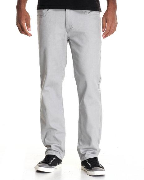 Akademiks - Men Grey Shady Stretch Twill Pants - $50.00