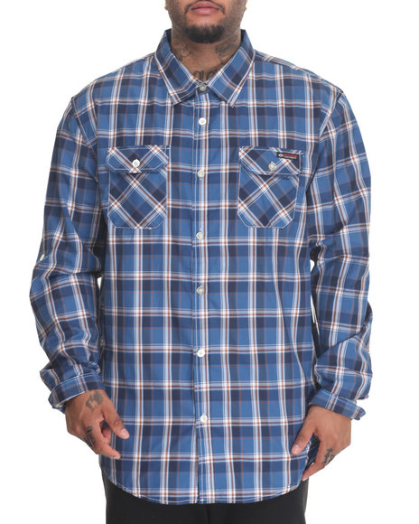 Enyce - Men Blue Mr Trout L/S Button-Down (B&T) - $24.99