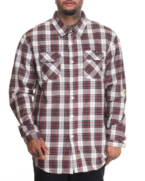 Enyce - Men Red Box Troll L/S Button-Down (B&T)