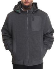 Outerwear - Distance Ballistic Nylon Trimmed Lined Zip - Up Fleece Jacket (B&T)