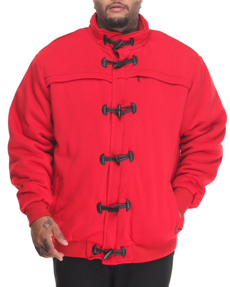 Buyers Picks Men Bubba Fleece Toggle Jacket (B&T) Red 3X-Large